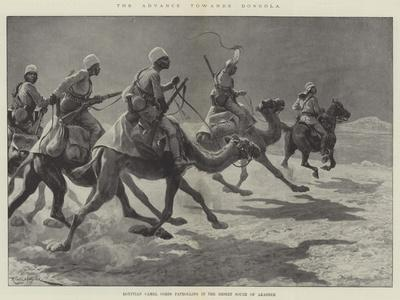 The Advance Towards Dongola, Egyptian Camel Corps Patrolling in the Desert South of Akasheh-Richard Caton Woodville II-Framed Giclee Print