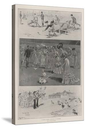 A Novel Summer Gymkhana at Vincennes-Ralph Cleaver-Stretched Canvas Print
