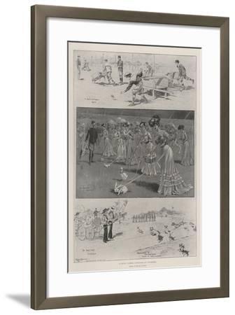 A Novel Summer Gymkhana at Vincennes-Ralph Cleaver-Framed Giclee Print