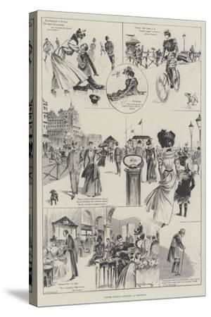 Easter Holiday Sketches at Brighton-Ralph Cleaver-Stretched Canvas Print