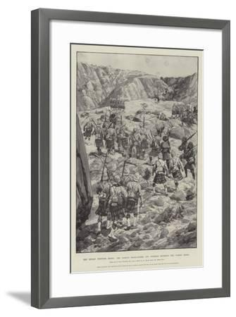 The Indian Frontier Rising, the Gordon Highlanders and Gurkhas Storming the Dargai Ridge-Richard Caton Woodville II-Framed Giclee Print