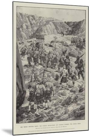 The Indian Frontier Rising, the Gordon Highlanders and Gurkhas Storming the Dargai Ridge-Richard Caton Woodville II-Mounted Giclee Print