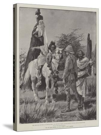 The British Reverse in Somaliland, an Advance Party Interviewing Native Spies in the Bush-Richard Caton Woodville II-Stretched Canvas Print