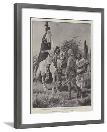 The British Reverse in Somaliland, an Advance Party Interviewing Native Spies in the Bush-Richard Caton Woodville II-Framed Giclee Print