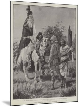 The British Reverse in Somaliland, an Advance Party Interviewing Native Spies in the Bush-Richard Caton Woodville II-Mounted Giclee Print