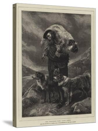 The Wounded Ram, Loch Freig-Richard Ansdell-Stretched Canvas Print