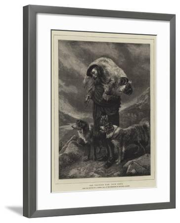 The Wounded Ram, Loch Freig-Richard Ansdell-Framed Giclee Print