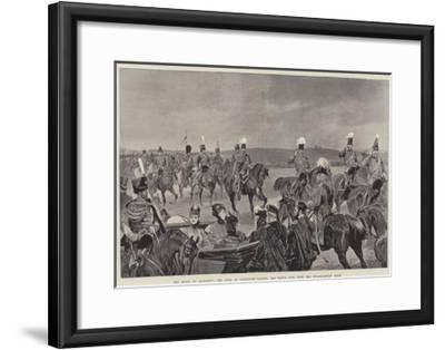 The Queen at Aldershot, the Duke of Connaught Leading the March Past with the Headquarters' Staff-Richard Caton Woodville II-Framed Giclee Print