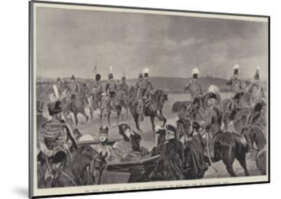 The Queen at Aldershot, the Duke of Connaught Leading the March Past with the Headquarters' Staff-Richard Caton Woodville II-Mounted Giclee Print