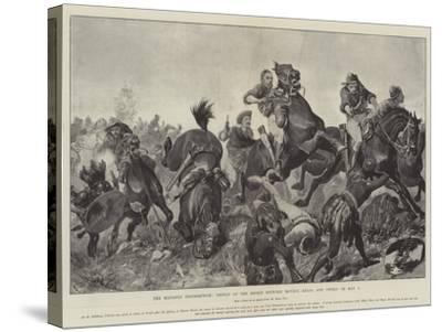 The Matabili Insurrection, Defeat of the Rebels Between Movene Kraal and Gwelo on 9 May-Richard Caton Woodville II-Stretched Canvas Print