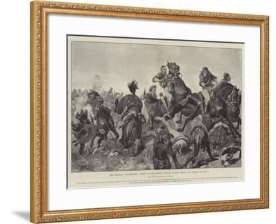 The Matabili Insurrection, Defeat of the Rebels Between Movene Kraal and Gwelo on 9 May-Richard Caton Woodville II-Framed Giclee Print