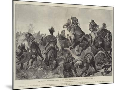 The Matabili Insurrection, Defeat of the Rebels Between Movene Kraal and Gwelo on 9 May-Richard Caton Woodville II-Mounted Giclee Print