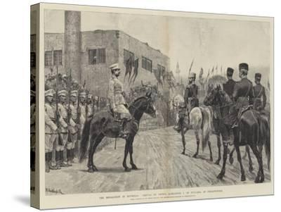 The Revolution in Roumelia, Arrival of Prince Alexander I of Bulgaria at Philippopolis-Richard Caton Woodville II-Stretched Canvas Print