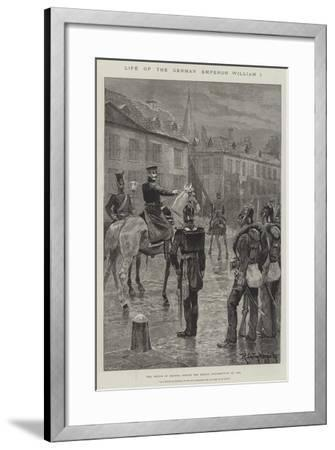Life of the German Emperor William I-Richard Caton Woodville II-Framed Giclee Print