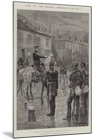 Life of the German Emperor William I-Richard Caton Woodville II-Mounted Giclee Print