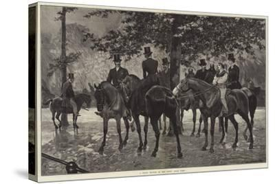 A Sharp Shower in the Row, Hyde Park-Richard Caton Woodville II-Stretched Canvas Print