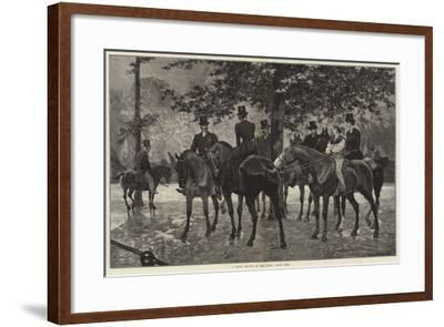 A Sharp Shower in the Row, Hyde Park-Richard Caton Woodville II-Framed Giclee Print