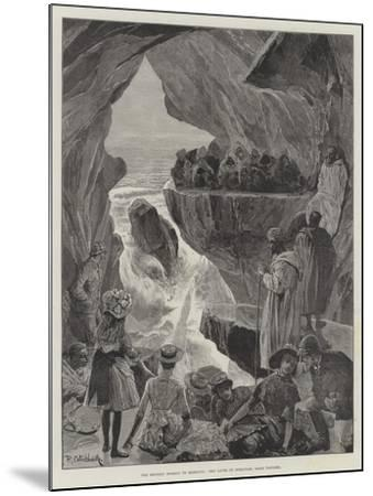 The British Mission to Morocco, the Caves of Hercules, Near Tangier-Richard Caton Woodville II-Mounted Giclee Print