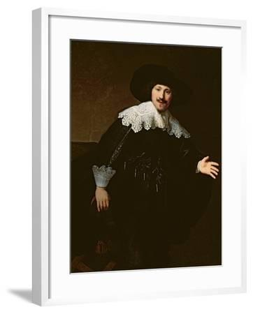 Portrait of a Seated Man Rising from His Chair, 1633-Rembrandt van Rijn-Framed Giclee Print