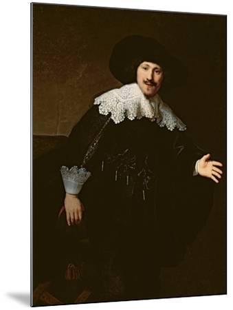 Portrait of a Seated Man Rising from His Chair, 1633-Rembrandt van Rijn-Mounted Giclee Print