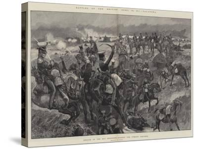 Battles of the British Army, Talavera, Charge of the 23rd Dragoons Against the French Squares-Richard Caton Woodville II-Stretched Canvas Print