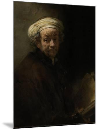 Self Portrait as the Apostle Paul, 1661-Rembrandt van Rijn-Mounted Giclee Print