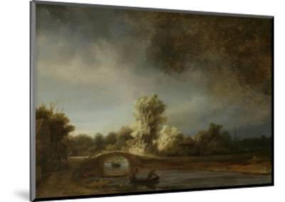 Landscape with a Stone Bridge, C.1638-Rembrandt van Rijn-Mounted Giclee Print