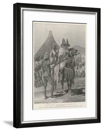 The Hostilities in Nigeria, a British Expeditionary Officer Interviewing a Chief-Richard Caton Woodville II-Framed Giclee Print