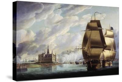 Nelson Forcing Passage of Sound, 30 March 1801, Prior to Battle of Copenhagen-Ralph Dodd-Stretched Canvas Print