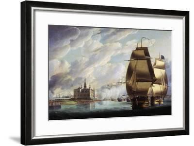 Nelson Forcing Passage of Sound, 30 March 1801, Prior to Battle of Copenhagen-Ralph Dodd-Framed Giclee Print