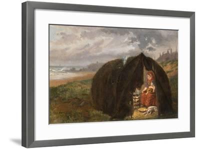 Gypsies Camped on the Beach, Near South Shields, 1876-Ralph Hedley-Framed Giclee Print