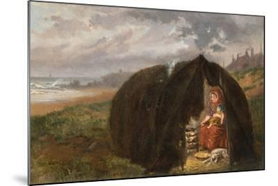 Gypsies Camped on the Beach, Near South Shields, 1876-Ralph Hedley-Mounted Giclee Print