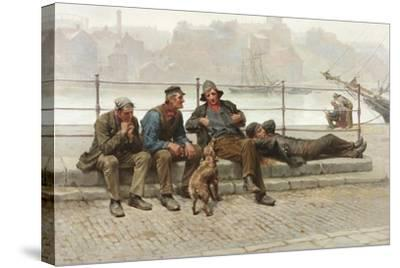 Out of Work, 1888-Ralph Hedley-Stretched Canvas Print