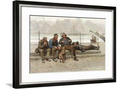 Out of Work, 1888-Ralph Hedley-Framed Giclee Print