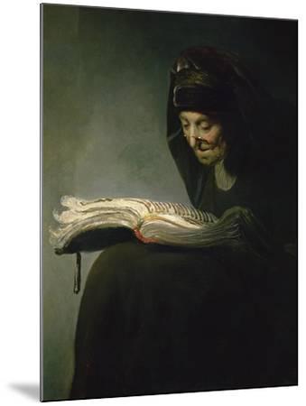 Portrait of Rembrandt's Mother-Rembrandt van Rijn-Mounted Giclee Print