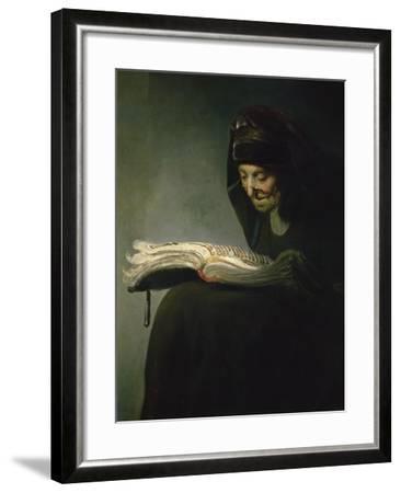 Portrait of Rembrandt's Mother-Rembrandt van Rijn-Framed Giclee Print