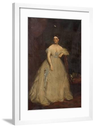 Portrait of a Lady Wearing a White Dress-Richard Buckner-Framed Giclee Print