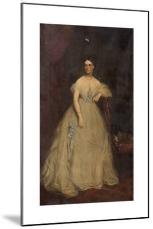 Portrait of a Lady Wearing a White Dress-Richard Buckner-Mounted Giclee Print