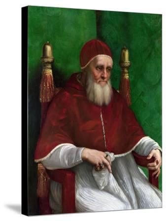 Portrait of Pope Julius II, 1511-Raphael-Stretched Canvas Print