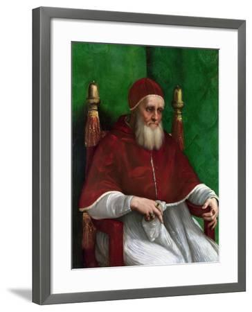 Portrait of Pope Julius II, 1511-Raphael-Framed Giclee Print