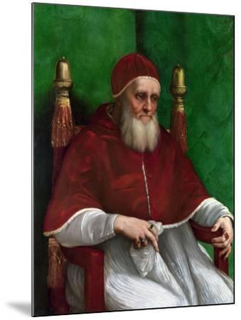 Portrait of Pope Julius II, 1511-Raphael-Mounted Giclee Print