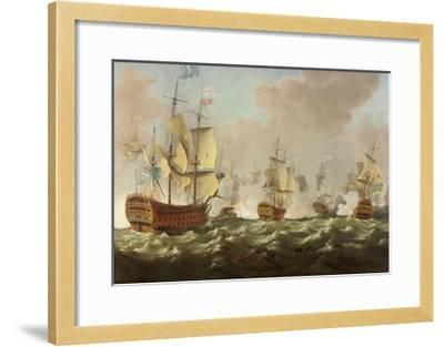A Naval Engagement-Richard Paton-Framed Giclee Print