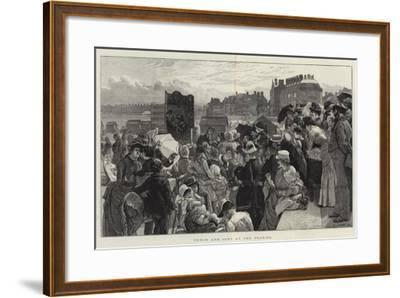 Punch and Judy at the Seaside-Robert Barnes-Framed Giclee Print