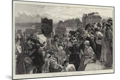Punch and Judy at the Seaside-Robert Barnes-Mounted Giclee Print