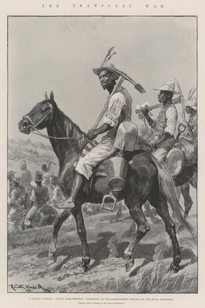 The Transvaal War-Richard Caton Woodville II-Stretched Canvas Print