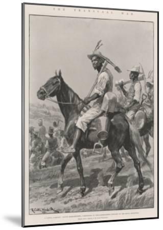 The Transvaal War-Richard Caton Woodville II-Mounted Giclee Print