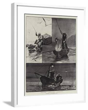 Sea-Fishing Off the Brittany Coast-Richard Caton Woodville II-Framed Giclee Print