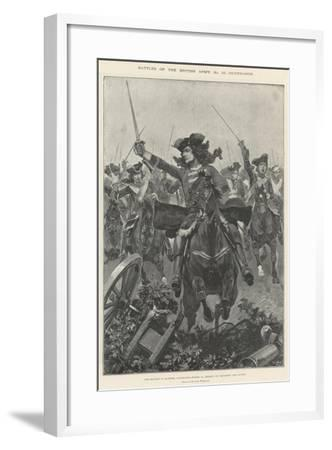 Battles of the British Army, Oudenarde-Richard Caton Woodville II-Framed Giclee Print