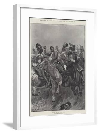 Battles of the British Army, Waterloo-Richard Caton Woodville II-Framed Giclee Print