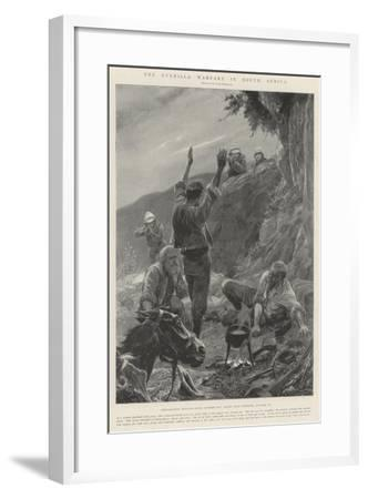 The Guerilla Warfare in South Africa-Richard Caton Woodville II-Framed Giclee Print